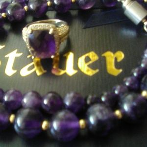 Stauer Amethyst Ring 925 Signed And Amethyst 20 in